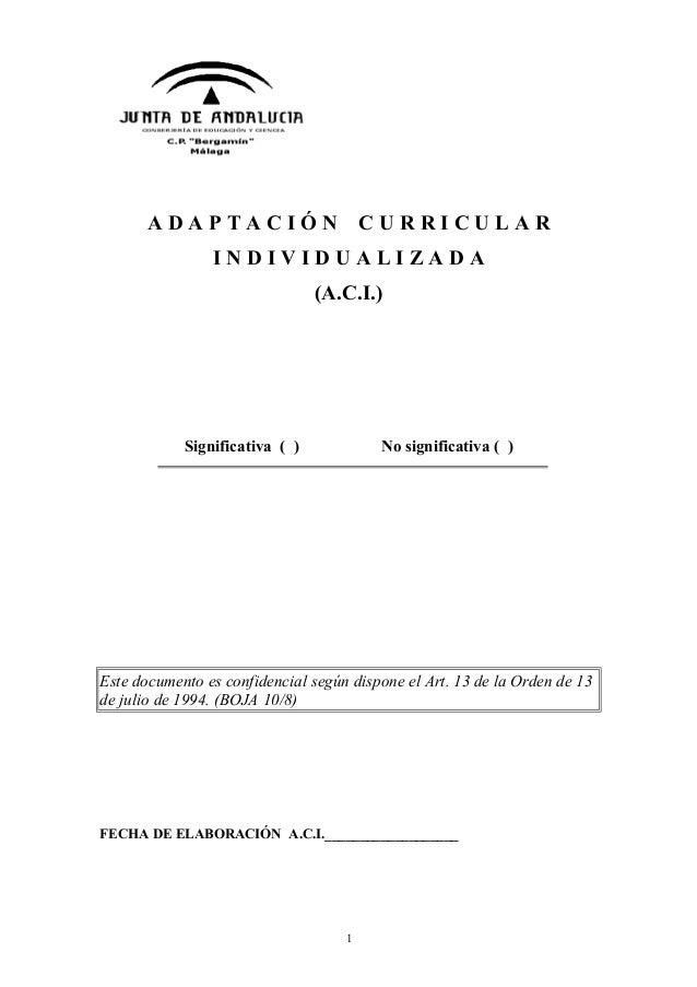 Aci junta de andaluc a cp bergam n m laga for Oficina junta de andalucia