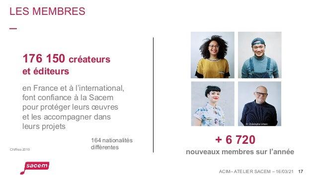 176 150 créateurs et éditeurs LES MEMBRES 17 + 6 720 nouveaux membres sur l'année en France et à l'international, font con...