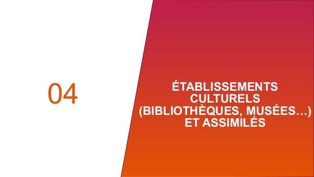 ÉTABLISSEMENTS CULTURELS (BIBLIOTHÈQUES, MUSÉES…) ET ASSIMILÉS 04