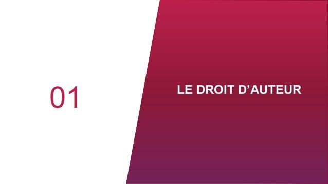 LE DROIT D'AUTEUR 01