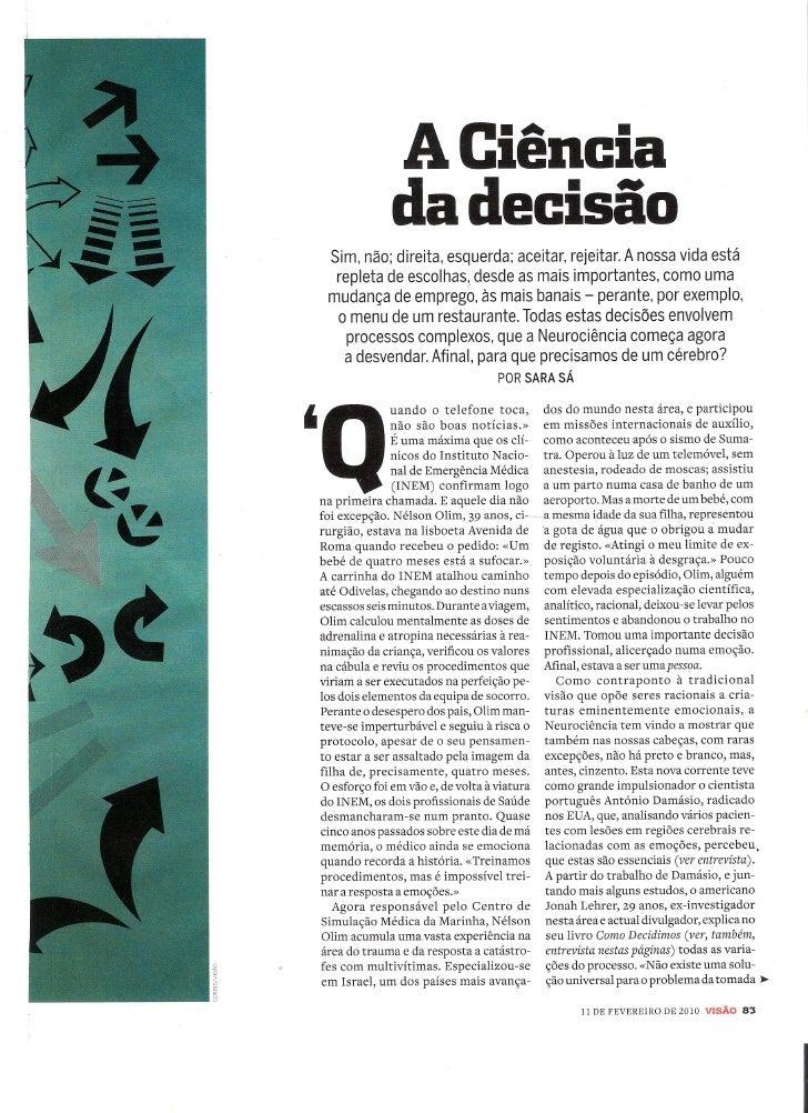 A CiêNcia Das Boas DecisõEs   VisãO   Fev 2010