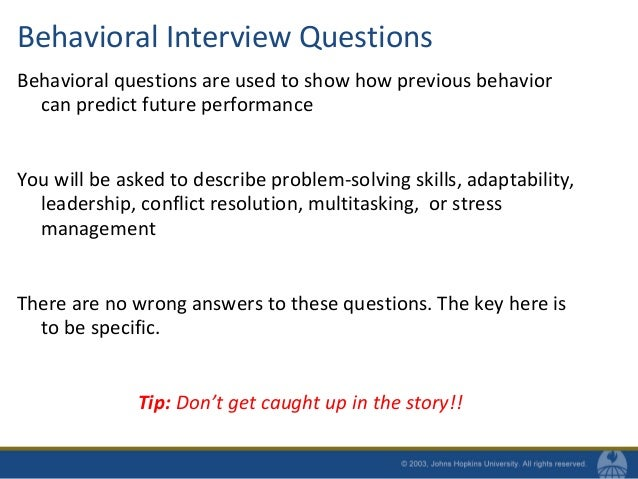 Behavioral Interview Questions ...