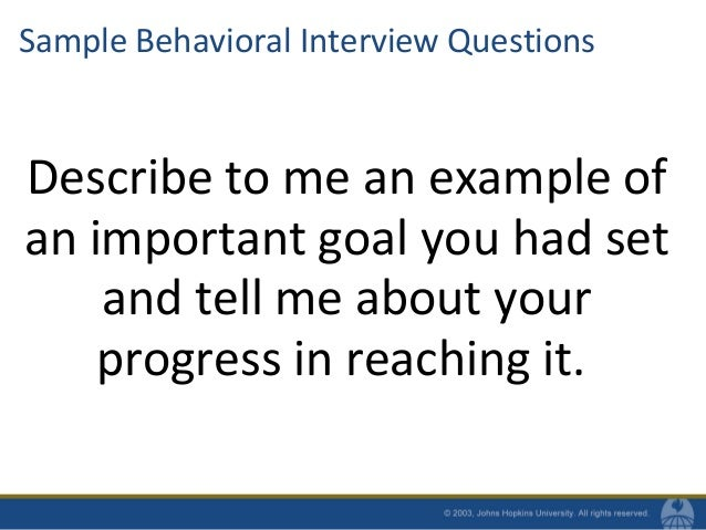 27. Sample Behavioral Interview Questions ...