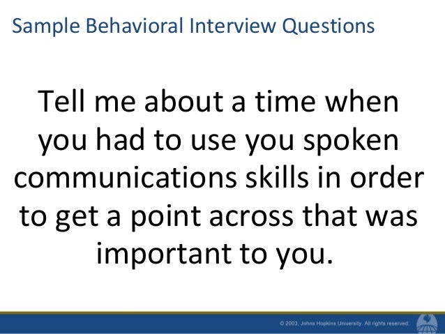 29. Sample Behavioral Interview Questions ...