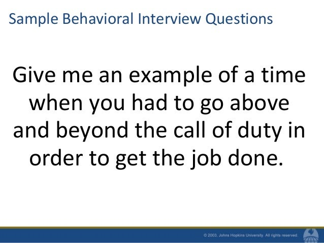 30. Sample Behavioral Interview Questions ...