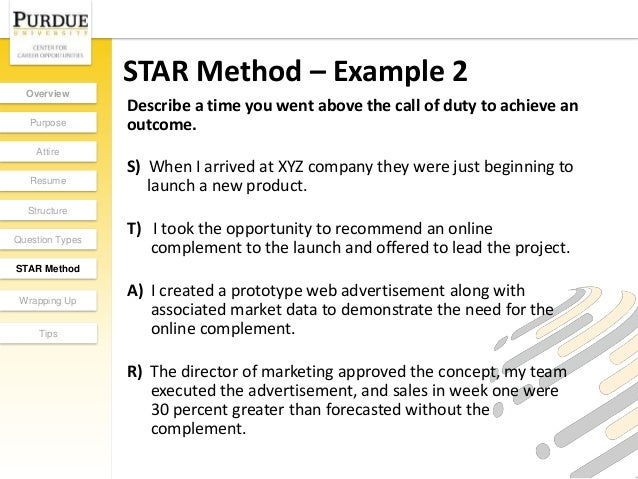 Star Interview Method For Resume Star Method