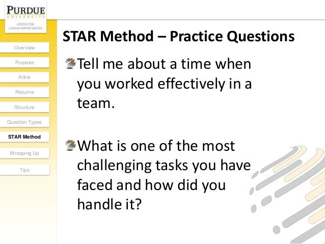 Superior 16. Wrapping Up The InterviewOverview Purpose Attire Resume Structure  Question Types STAR Method ...  Star Method Resume