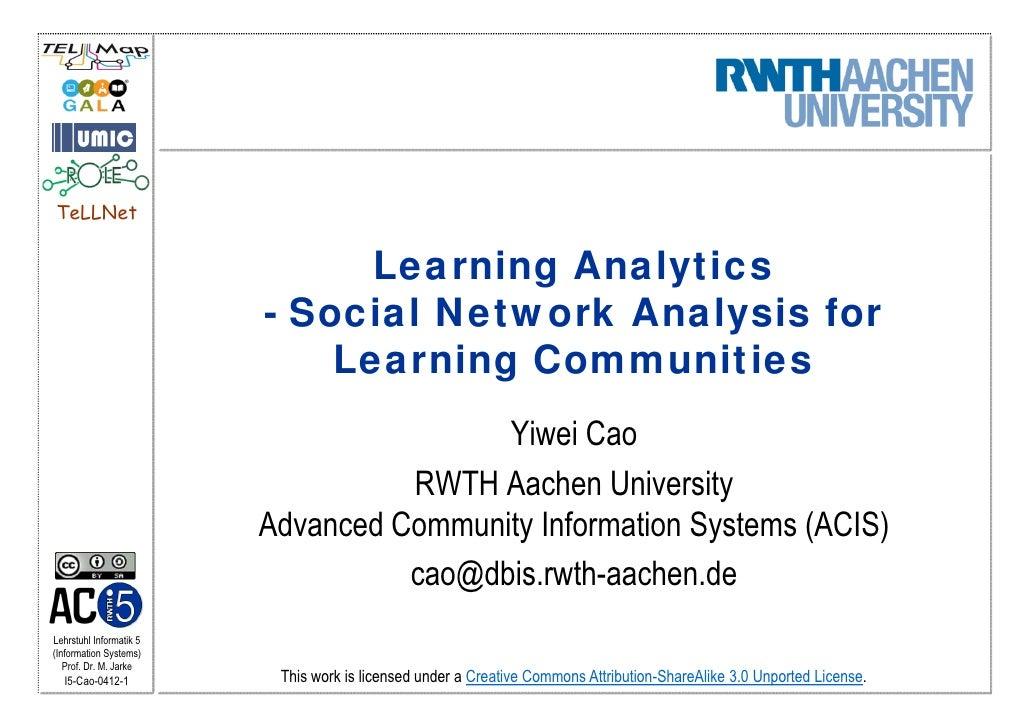 TeLLNet                               Learning Analytics                         - Social Network Analysis for            ...