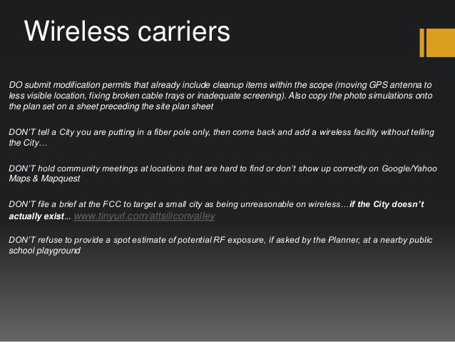 A City PlannerS Perspective On Wireless Facility Siting In California