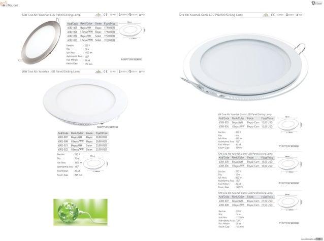 "1aw Swa A111 Vuvarlak LED Panel/ Ceiling Lamp ,5-_1c< 1500"" 1 immvr1 901011 MP2» Slva A1l1Vuvarlak Camll LED Pane1ler/ Cei..."