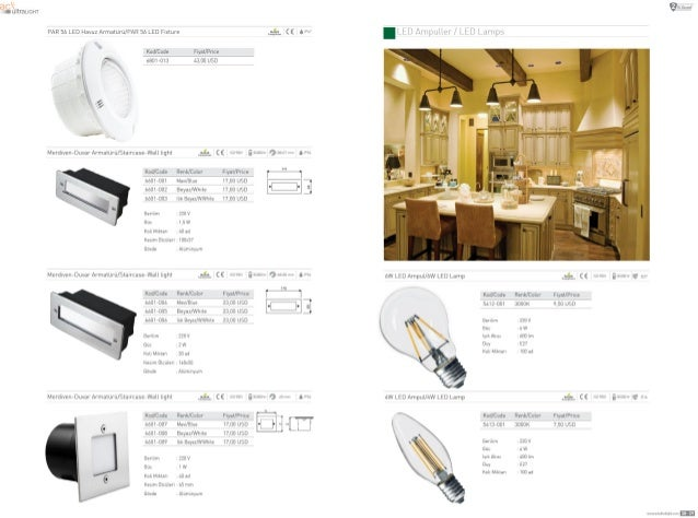 8C K 111: ultraucm  PAR 56 LED Havuz Armaturu/ PAR 55 LED Elxlure      Knd/ Code F1ya| /Price  b8D1—u13 1.3.00 USD   I é _...