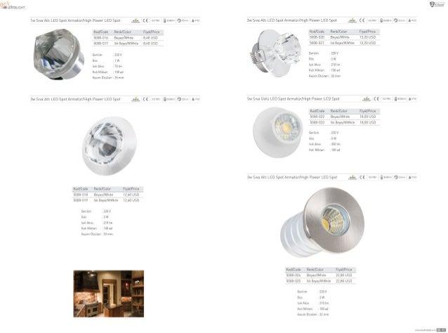 1wSIva ALLL LED SpoIArmatur/ HLgh Power LED Spot (, -L (6 Lsavoa Kod/ Cude Rank/ Color FryaL/ Pnce 50084116 Beyaz/ Wmte 8,...