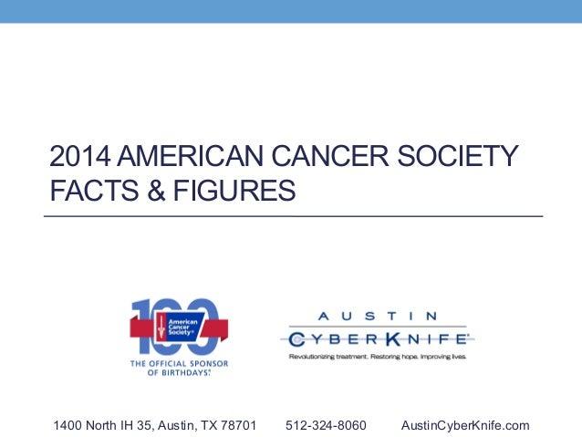 2014 AMERICAN CANCER SOCIETY FACTS & FIGURES 1400 North IH 35, Austin, TX 78701 512-324-8060 AustinCyberKnife.com