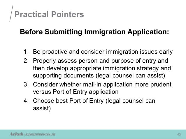 immigration recruitment form 2013
