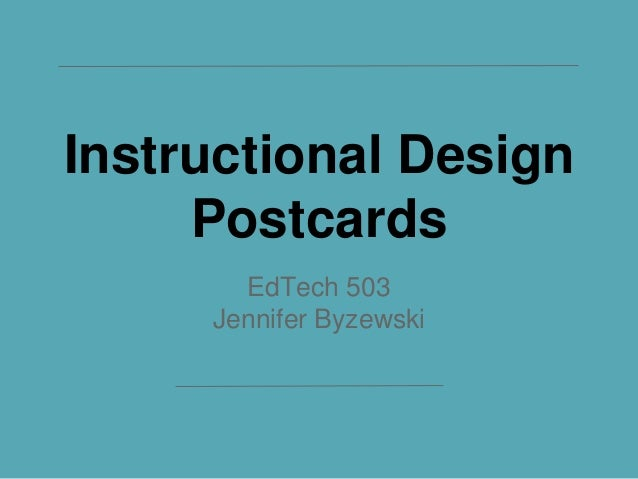 Instructional Design Postcards