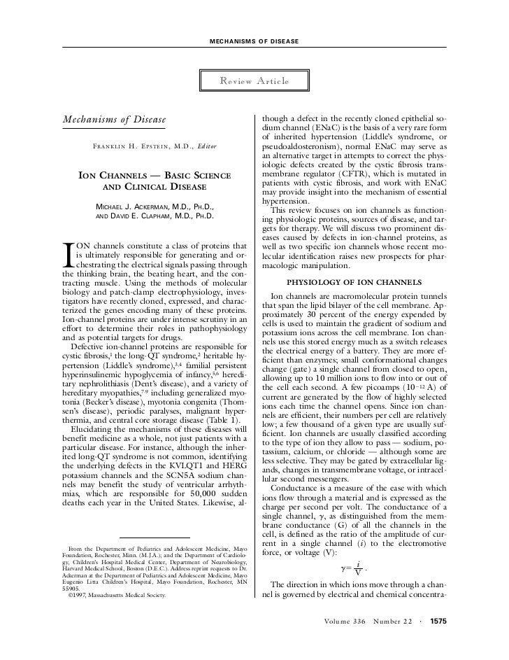 MEC H A NIS MS OF D IS EAS E                                                                Review ArticleMechanisms of Di...