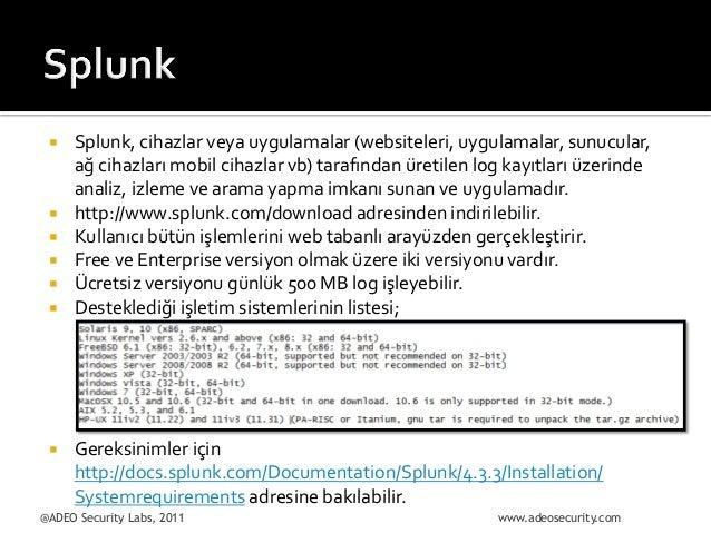 ¡  ¡ ¡ ¡ ¡ ¡  ¡  Splunk,  cihazlar  veya  uygulamalar  (websiteleri,  uygulamalar,  sunucular, ...