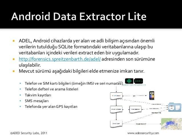 ¡  ¡ ¡  ADEL,  Android  cihazlarda  yer  alan  ve  adli  bilişim  açısından  önemli   verilerin...