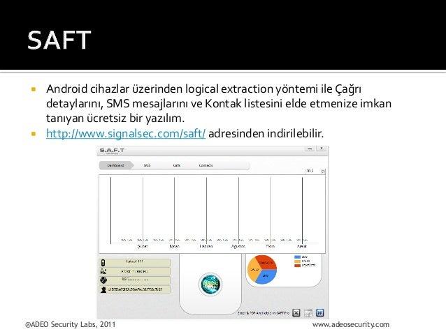 ¡  ¡  Android  cihazlar  üzerinden  logical  extraction  yöntemi  ile  Çağrı   detaylarını,  SMS  ...