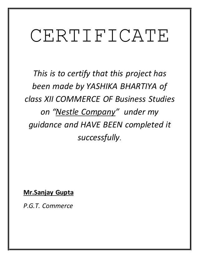 Sample certificate for school project doritrcatodos sample certificate for school project acknowledgement altavistaventures Choice Image