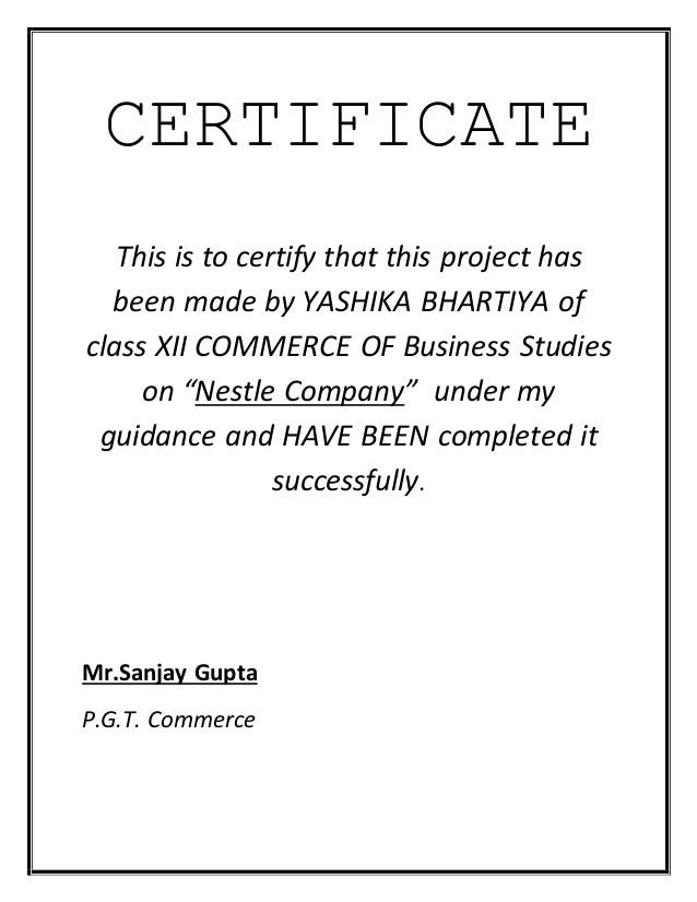 How To Write Acknowledgement For Business Studies Project