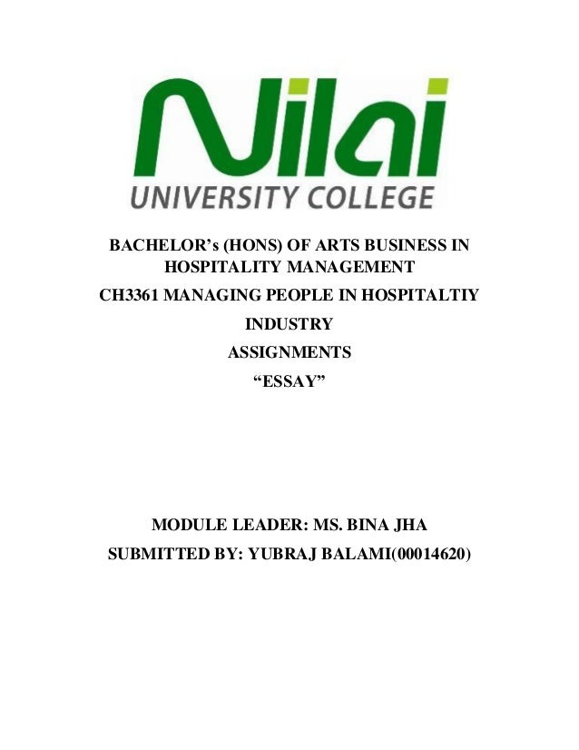 Essay Writing Format For High School Students Bachelors Hons Of Arts Business In Hospitality Management Ch  Managing People In Hospitaltiy Industry  Narrative Essay Topics For High School Students also Paper Vs Essay Argumentative Essay On The Career On Hospitality Research Papers Examples Essays