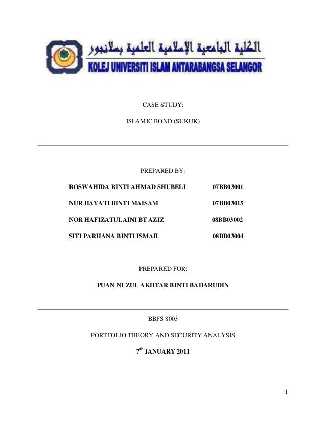 performance bond template - islamic bond sukuk