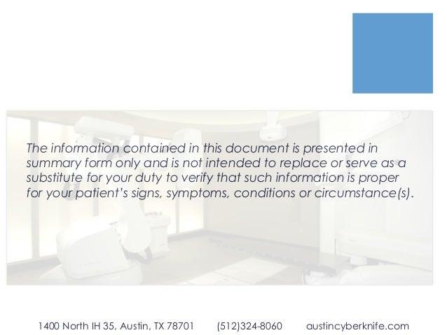Physician Guide to Austin CyberKnife Slide 2