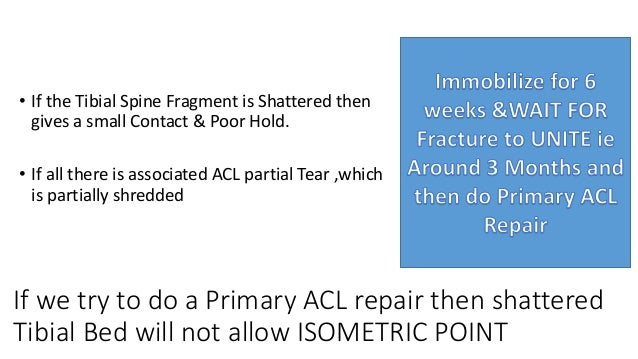 • Surgery to be done in 2 Sittings LCL+POSTERIOLATERAL CORNER+ACL+PCL 1st LCL + PLC and IMMOBILSE THE KNEE FOR 4-6 WEEKS 2...