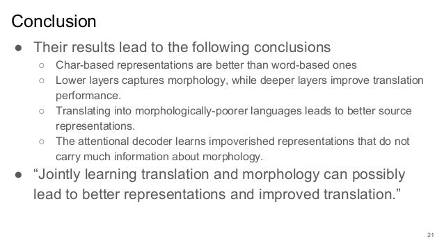 about morphology