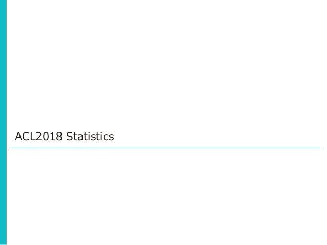 ACL2018 Statistics