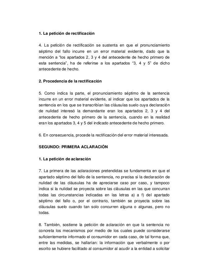 Aclaracion sentencia ts clausulas suelo for Solicitud clausula suelo
