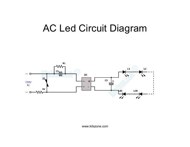 ac led circuit diagram led lighting circuits 220v ac 230v ac rh slideshare net led on 230vac circuit ac led circuit diagram 120v