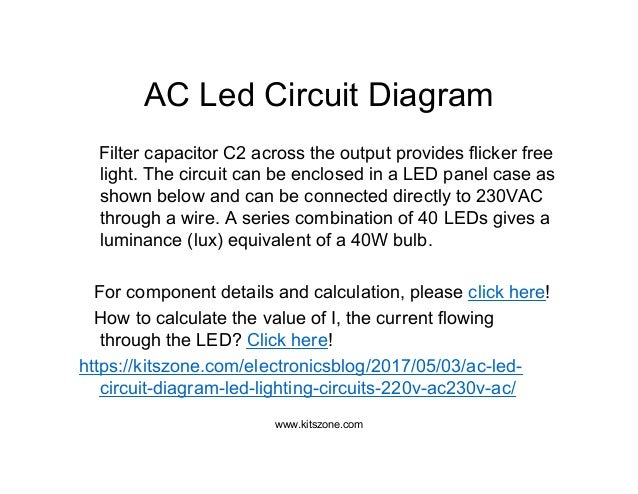 Ac led circuit diagram | led lighting circuits 220v ac/230v ac