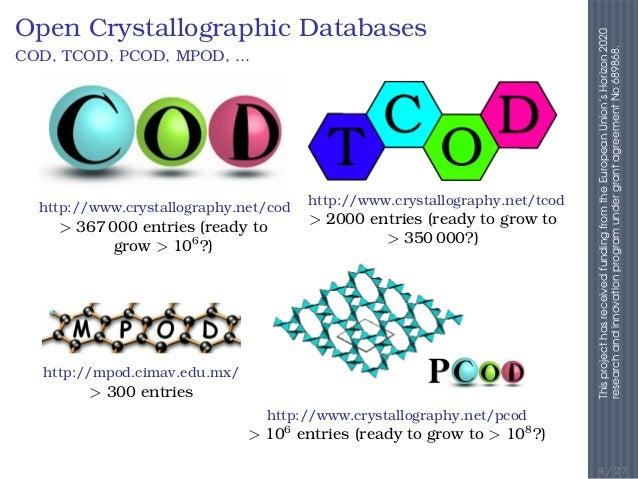 Saulius Gražulis The Crystalography Open Database