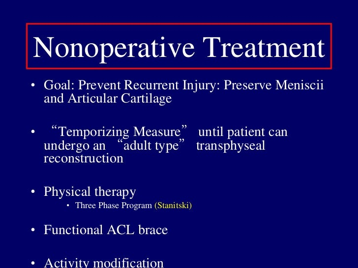Pivot Shift: Pathognomonic (test in AB/ER, Bach'88)</li></li></ul><li>Physical exam<br /><ul><li>Instrumented knee testing...