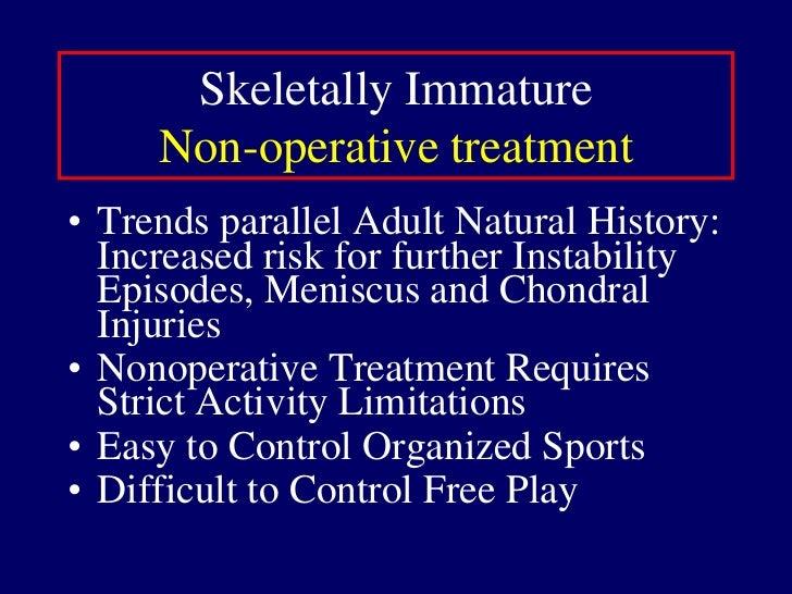 Phase I<br />7-10 days<br />PWB, brace<br />Active flexion, Passive extension<br />Patient education re consequences of hi...