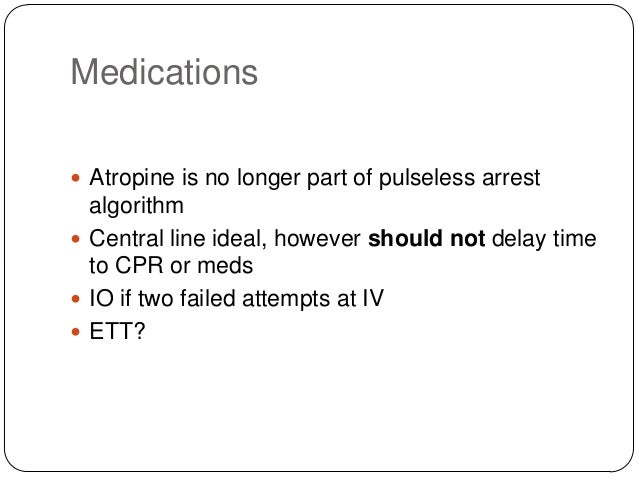 What is the next appropriate intervention? A – Adenosine 6 mg IVP through closest line to the heart followed by 20 ml NS p...