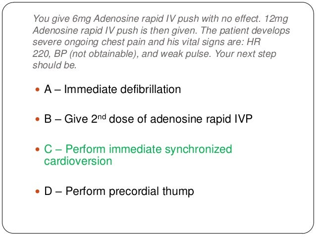 After completing 2 minutes of CPR, your rhythm check indicates a second shock. You shock a second time with 160 J, and the...