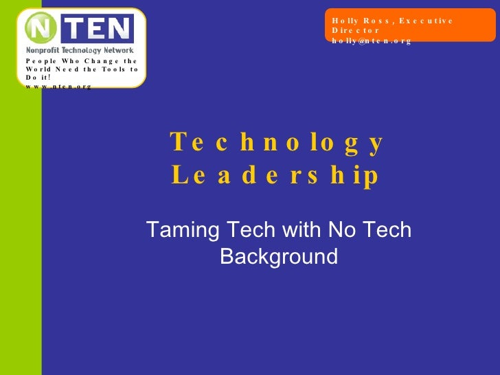 Technology Leadership Taming Tech with No Tech Background
