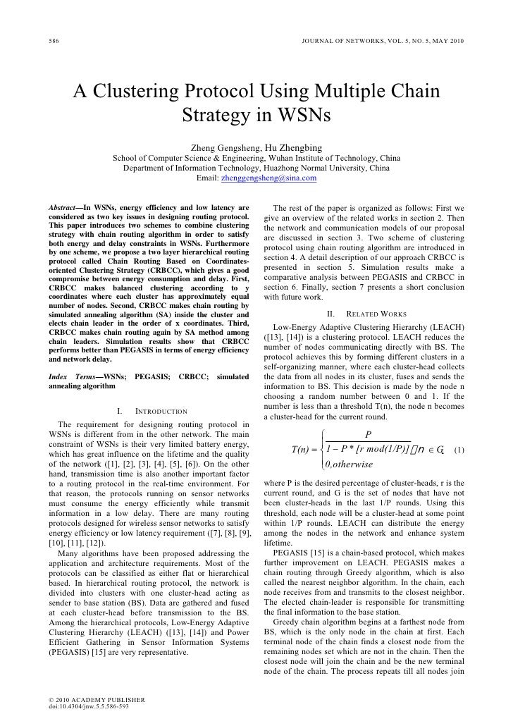 586                                                                       JOURNAL OF NETWORKS, VOL. 5, NO. 5, MAY 2010    ...