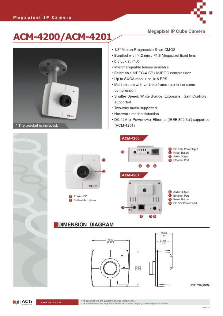 Megapixel IP Camera                                                                                                       ...