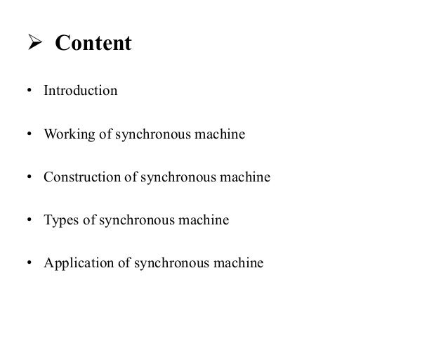 ac synchronous machine and its application engineering essay Theses and dissertations available from proquest  may purchase copies of theses and dissertations from proquest or talk to your  filter and its application to.