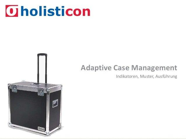 ACM – Indikatoren, Muster, Ausführung | bpm-soa@holisticon.de | 1 Indikatoren, Muster, Ausführung Adaptive Case Management