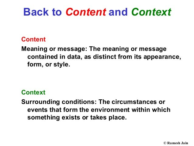 context in style