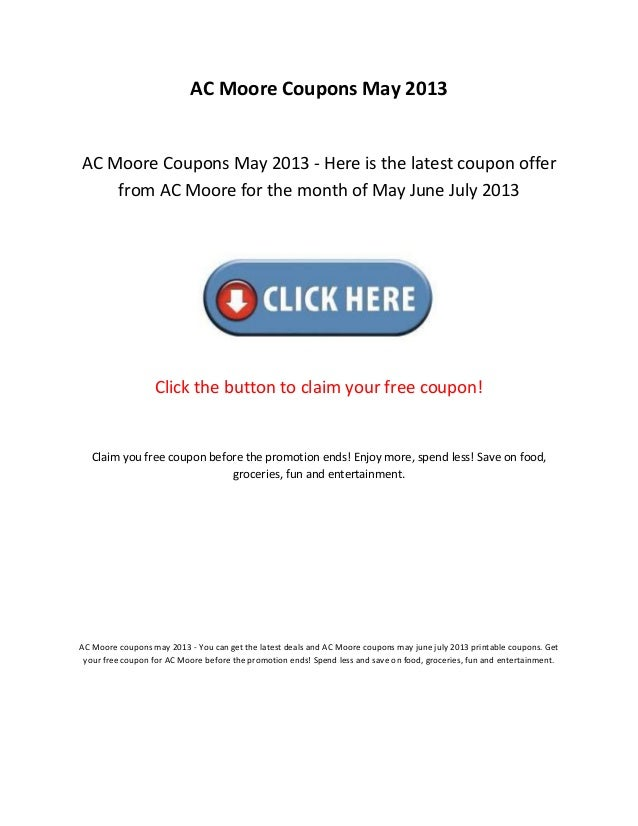 photo regarding Ac Moore Printable Coupon referred to as Ac moore coupon codes may well 2013