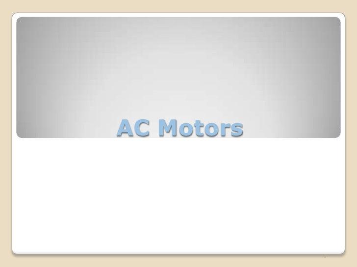 AC Motors                 1