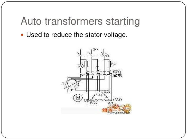 Auto transformers starting<br />Used to reduce the stator voltage.<br />