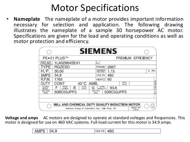 Ac motors for Siemens motor data sheet