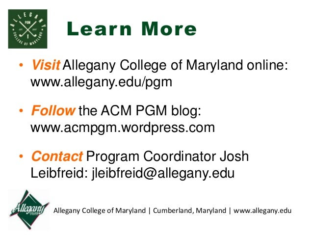 Allegany College of Maryland shared a post. - facebook.com